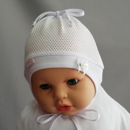 Летняя шапочка для девочки ПОЛИНКА, белый