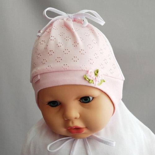 Летняя шапочка для девочки ПОЛИНКА, розовый