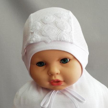 Летняя шапочка Ладушка, белый