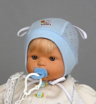 Летняя шапочка ЗАЙКА, голубой