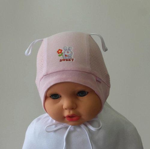 Летняя шапочка ЗАЙКА, розовый