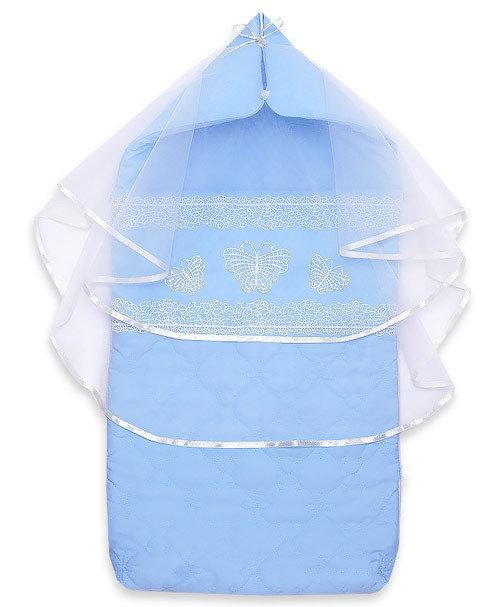 Комплект на выписку ЗАГАДКА, лето, голубой