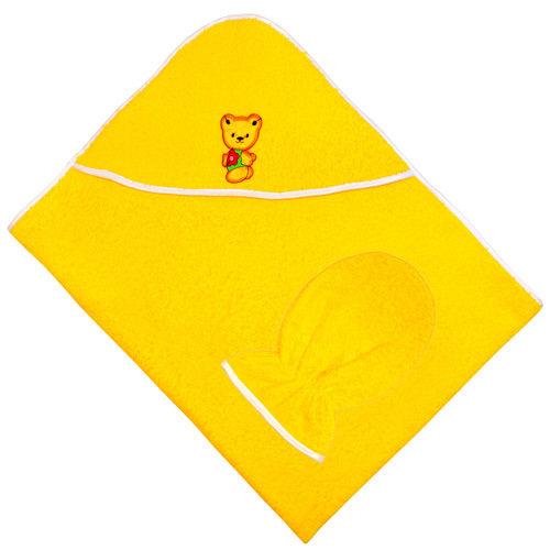Махровый набор для купания: полотенце-уголок и варежка