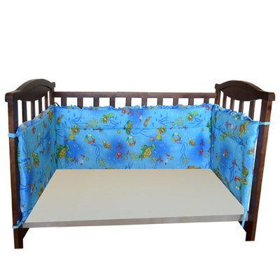 Бортик в кроватку 4х сторонний, высокий, бязь