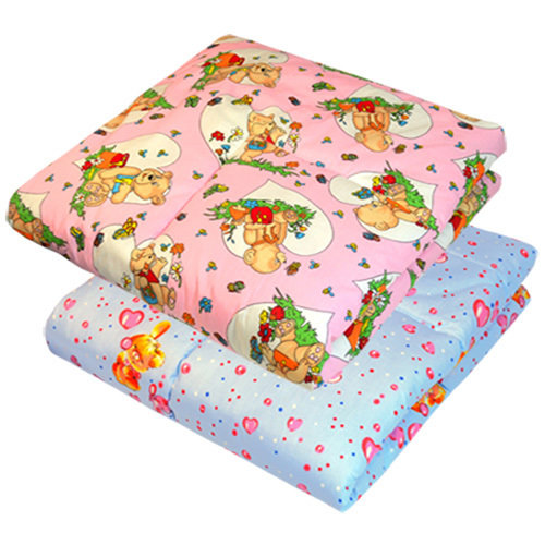 Одеяло в кроватку, бязь, холлофайбер (400г), 120х120