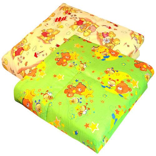 Одеяло в кроватку, бязь, холлофайбер (200г), 110х140
