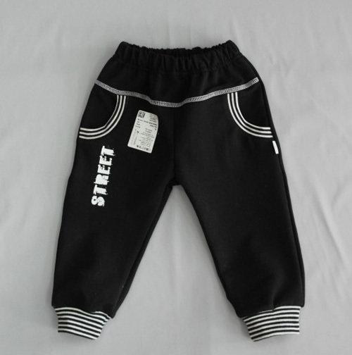 Штанишки на манжетах, с карманами, черный