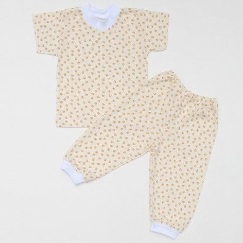 Комплект футболка + штанишки на манжетах, тонкий трикотаж