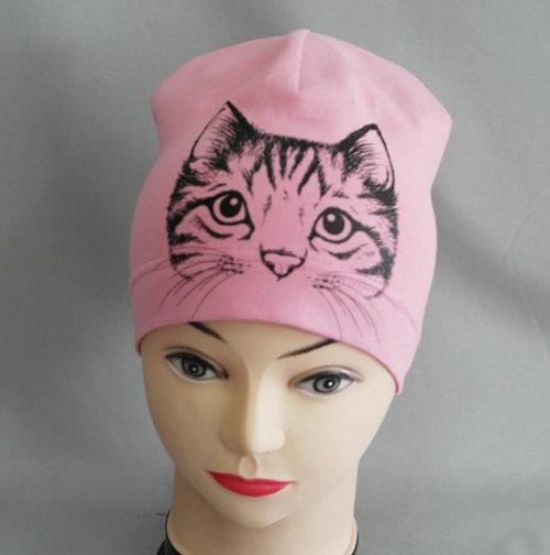 """Шапочка """"Любимец-кошка"""", светло-розовый"""