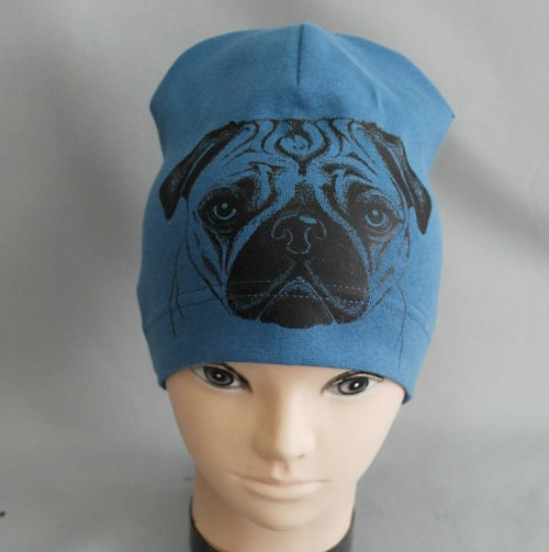 """Шапочка """"Любимец-собака"""", синий"""