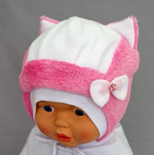 Шапочка для девочки НИКА, розовый