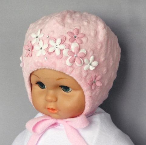 Шапочка для девочки БЕЛЛА, светло-розовый