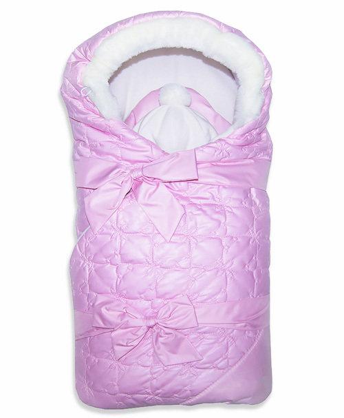 Комплект на выписку зима ЛАСКА (2 предмета), розовый