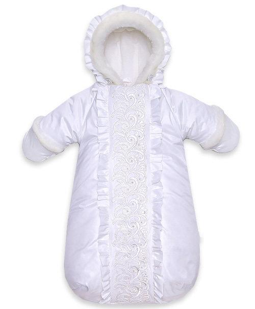 Комбинезон-мешок СНЕГУРОЧКА, зима, молочный