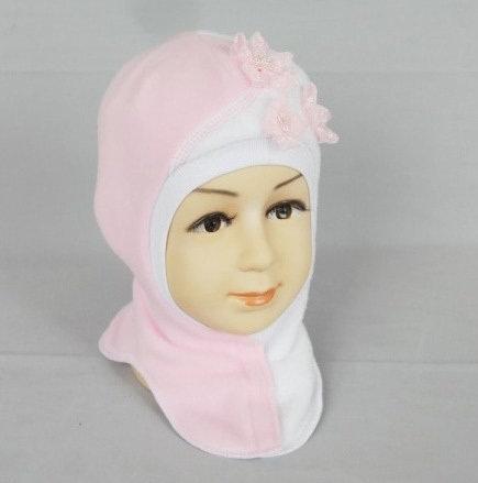 Шапочка-шлем МИЯ, светло-розовый