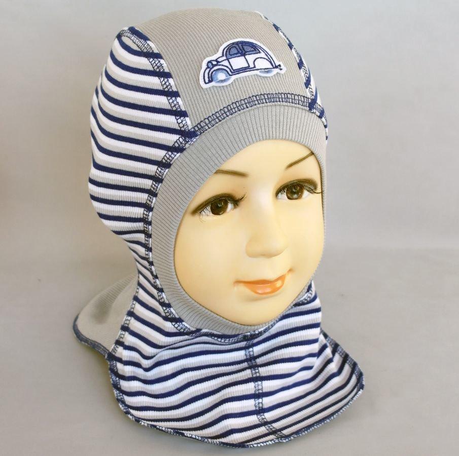 Шапочка-шлем КРОША М, серый