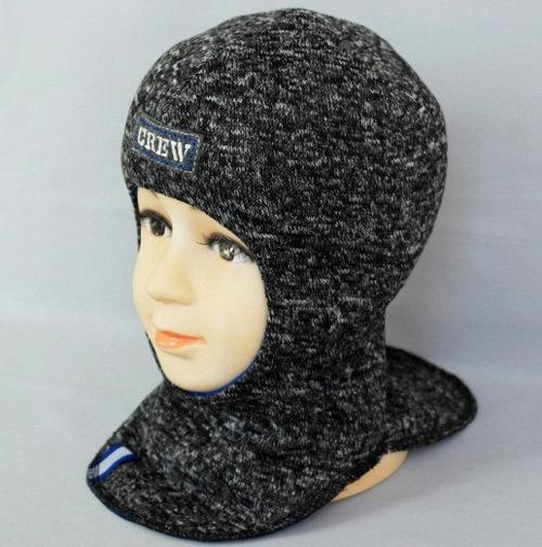 Шапочка-шлем АРСЕНИЙ, темно-серый