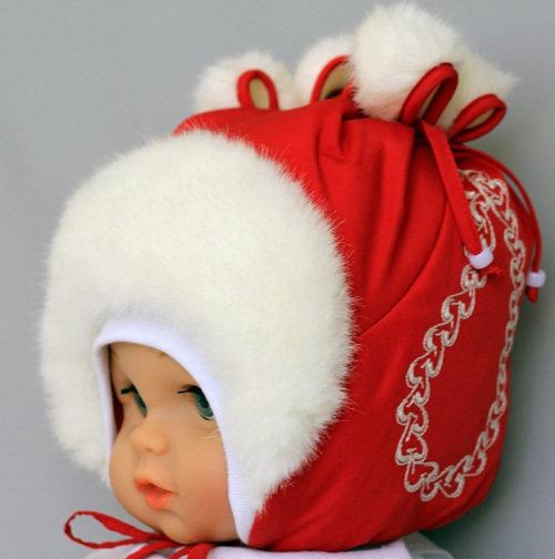 Зимняя шапочка ФЕНЕЧКА, красный