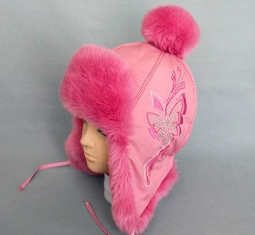 Зимняя шапочка КАМИЛЛА, розовый