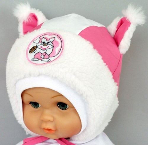 Зимняя шапочка РЫЖИК, розовый