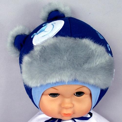 Зимняя шапочка ПОТАП, темно-синий