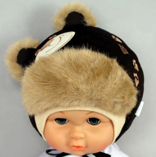 Зимняя шапочка ПОТАП, темно-коричневый