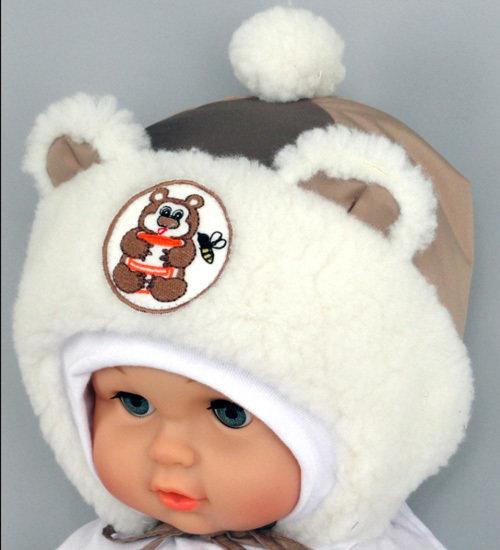 Зимняя шапочка ВИННИ, светло-коричневый