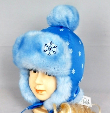 Зимняя шапочка ХЕЛЛИ, голубой