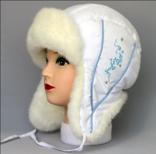 Шапочка АЛИНА, зима, белый