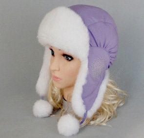 Зимняя шапочка МЕТЕЛИЦА, сиреневый
