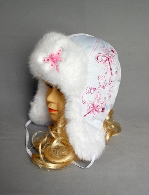 Зимняя шапочка СТРЕКОЗА, белый