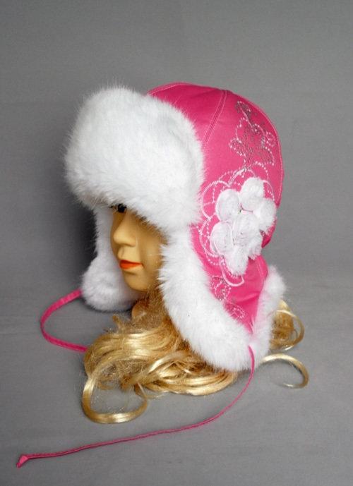 Зимняя шапочка СНЕЖАННА, розовый