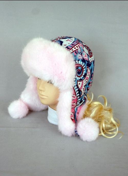 Зимняя шапочка ПАВЛИНА, светло-розовый