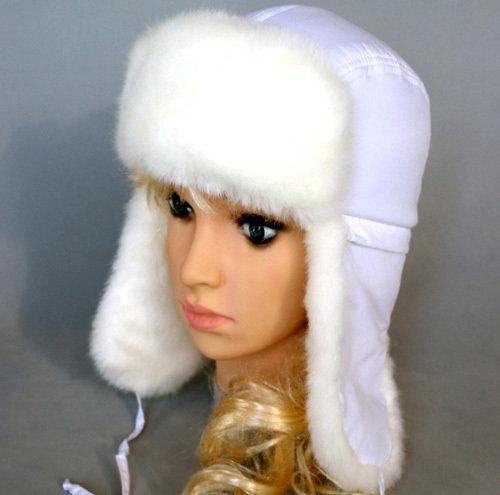 Зимняя шапочка ЛЕСНИК, белый