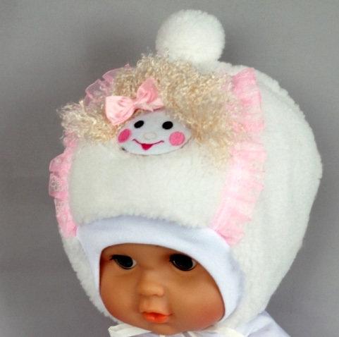 Зимняя шапка, белый
