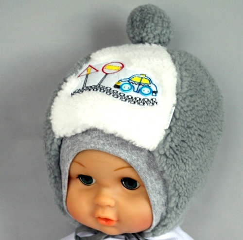 Зимняя шапочка РОМА, светло-серый