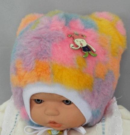 Зимняя шапочка ХРУСТИК, розовый