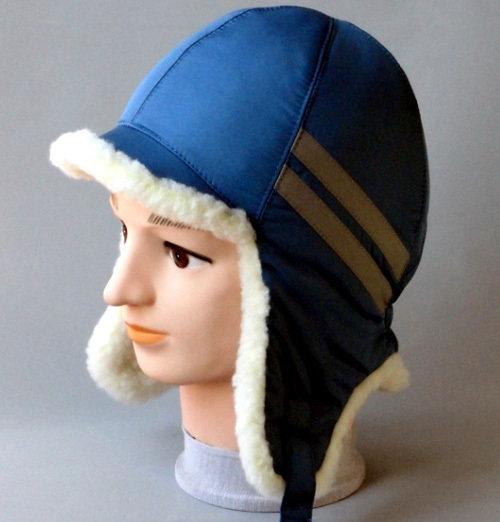 Зимняя шапочка ШЛЕМ, синий