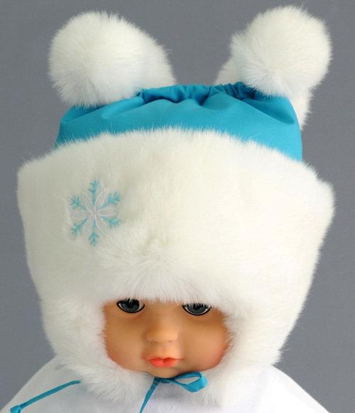 Зимняя шапочка ФИОНА, бирюзовый