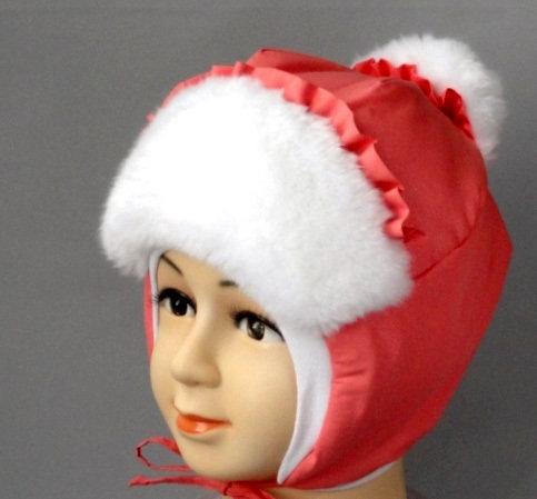 Зимняя шапочка ЛЕРА, коралл