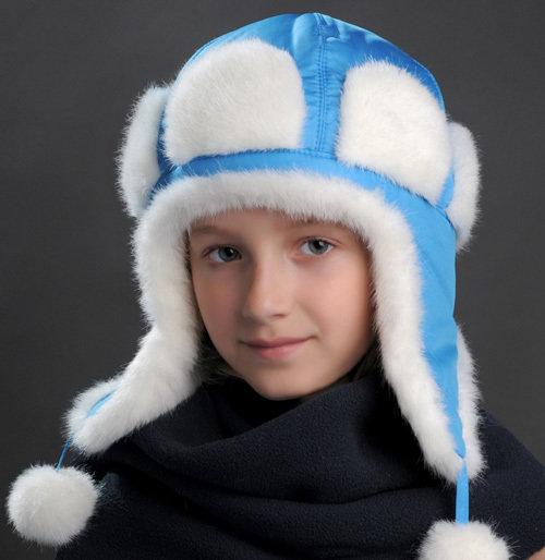 Зимняя шапочка АЛЛЯ, голубой