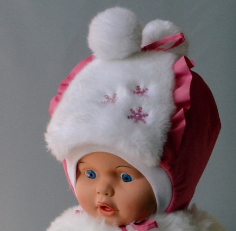 Зимняя шапочка АЛИСА, розовый
