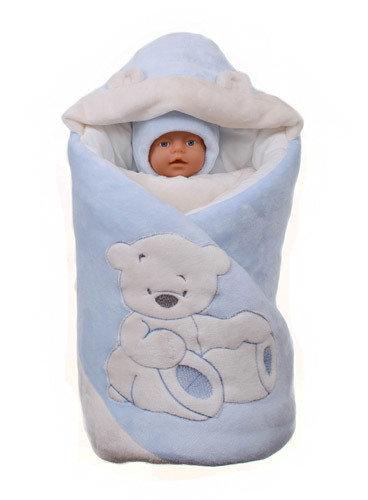 "Комплект на выписку «My Little Bear"" (демисезон, зима), голубой"