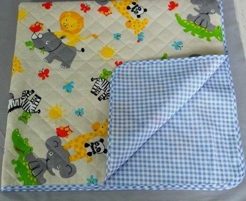 Одеяло детское утепленное, голубой