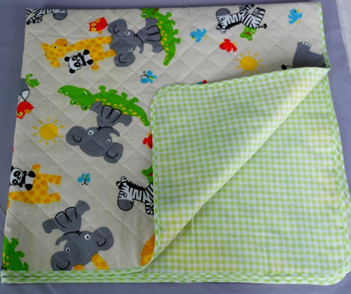 Одеяло детское утепленное, зеленый