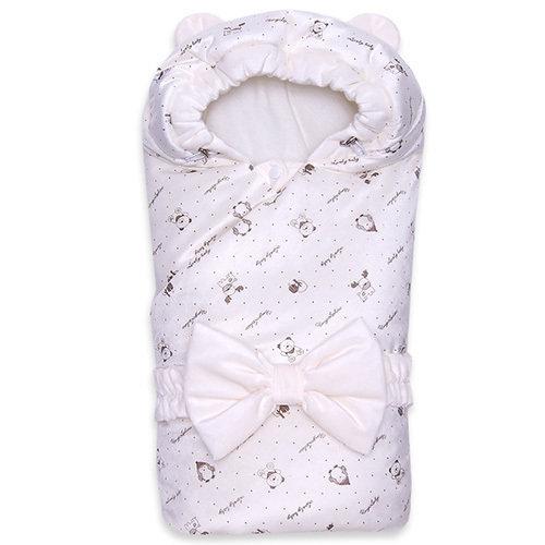 Одеяло с капюшоном деми MISHKA , молочный