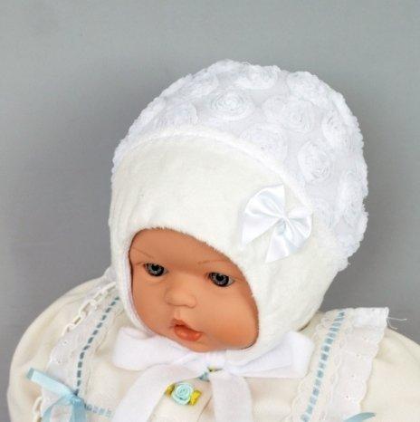 Шапочка для девочки ПАУЛИНКА, белая