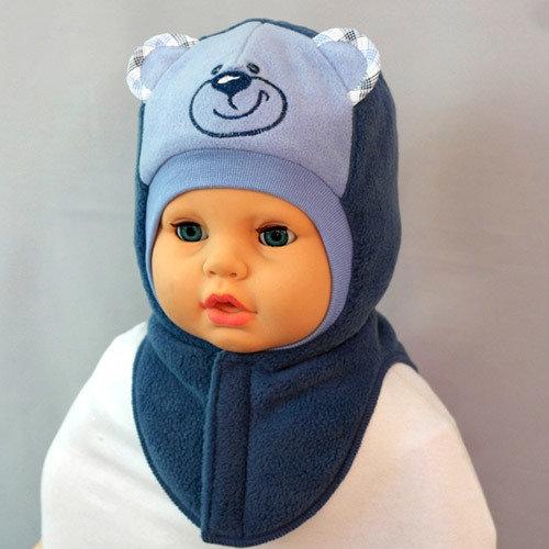 Шапочка-шлем для мальчика УМКА, синий