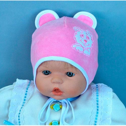 Шапочка для девочки МИШКА Д, розовый