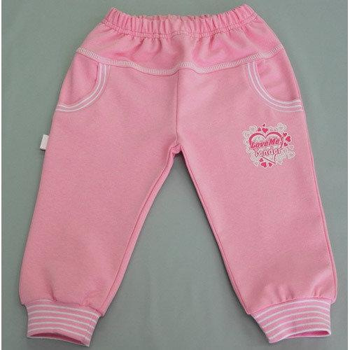 Штанишки на манжетах, с карманами, розовый